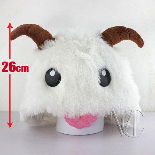 Oyun LOL Poro Peluş Şapka lol 26 cm Cosplay Kapaklar Noel hediyesi 79cade0d3e