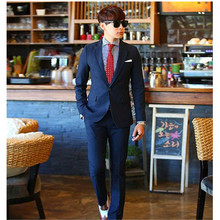 Hot ! Men's Formal Suit New Bridegroom Wedding Fashion Slim Custom Fit Tuxedo Business Dress Suits Blazer (Jacket+Pants)