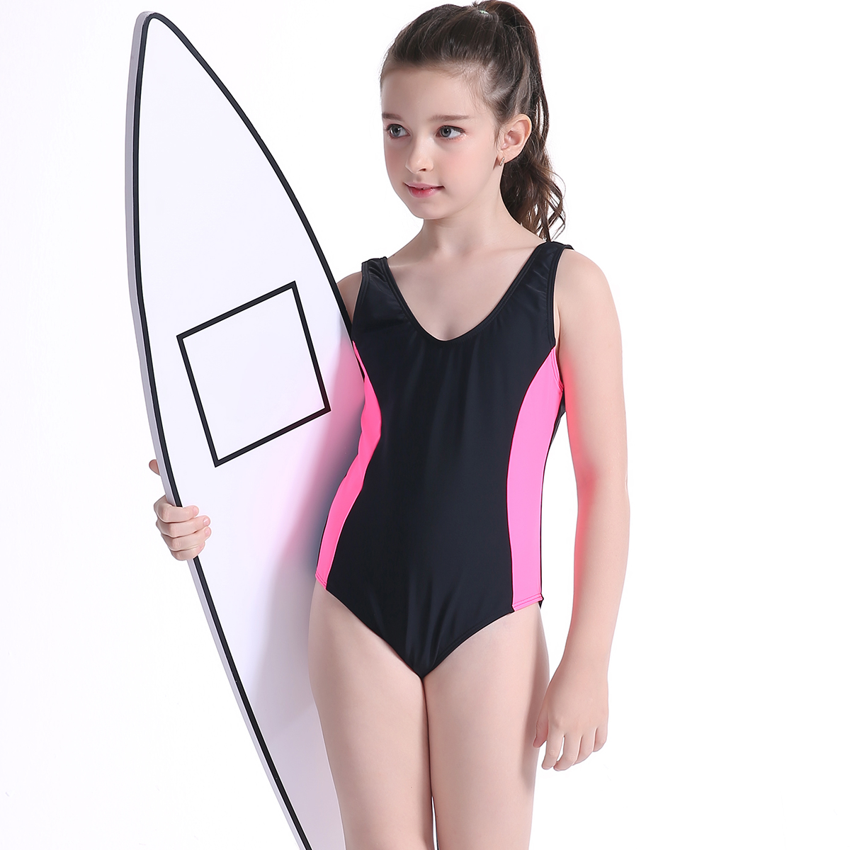 6e410e97a9 2017 Children Swimwear Girl Professional Swimsuit Child Girls Sports Swimwear  Bikini Baby Bathing Suit Swim wear