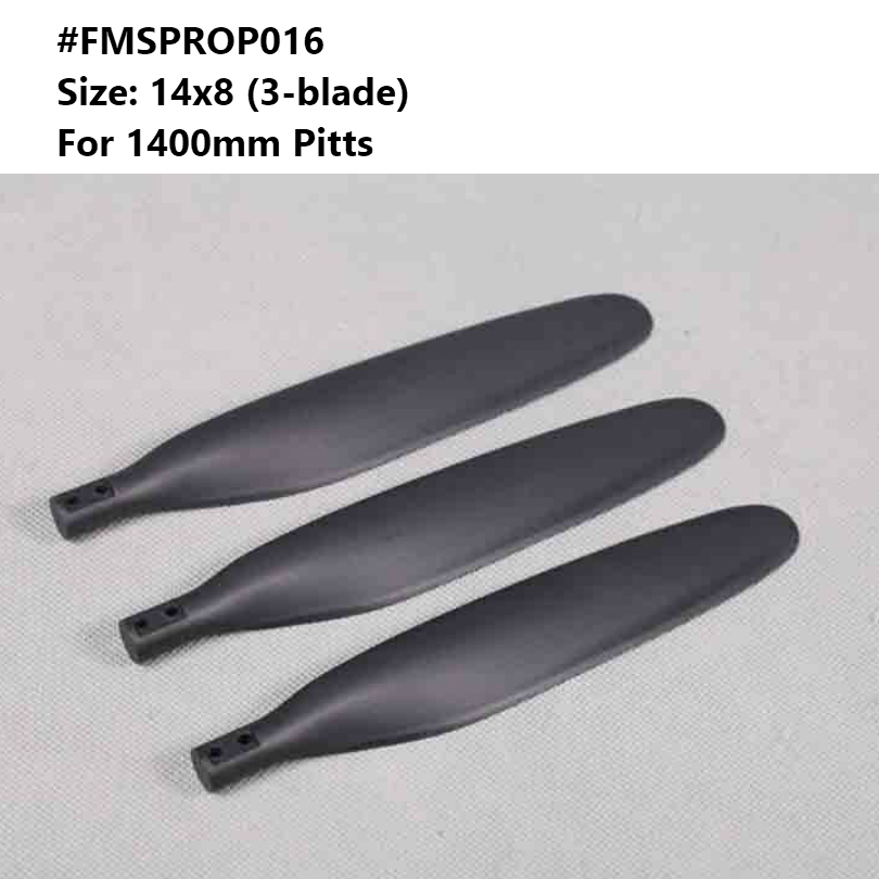 FMS Model 1400mm 1.4m Pitts Propeller 14x8 Inch 3 Blade FMSPROP016 RC Airplane Model Hobby Plane Aircraft Avion Spare Parts image