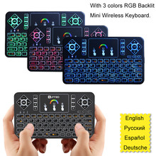Multi-language Mini Wireless Keyboard Air Mouse Remote Control Touchpad For Android TV Box X96 for xiaomi Box XBOX 360 PS3 etc