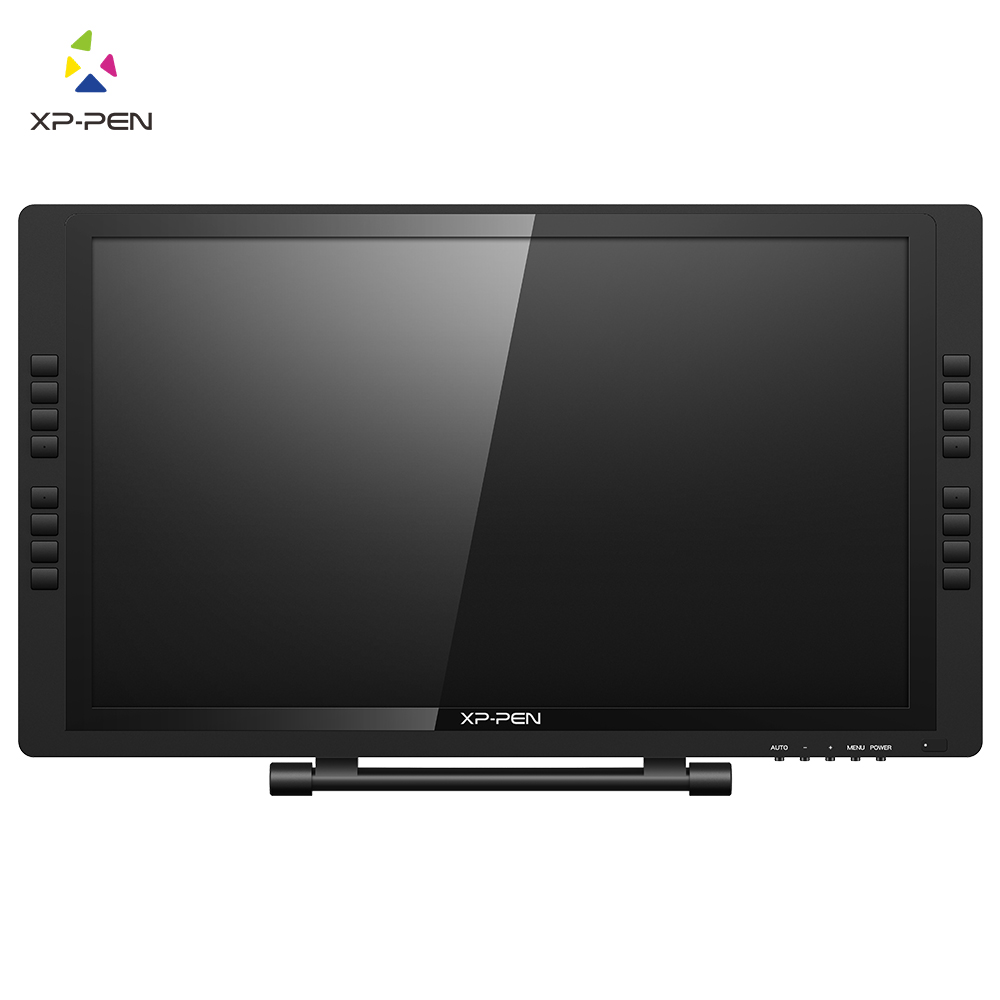 XP-Pen 22E Pro HD IPS Pen Display Monitor Graphics Drawing Tablet with Express Keys for both left and right hand bosto kingtee 22hdx 22 full hd ips panel with battery free pen have eraser function on pen with 20 pcs express key