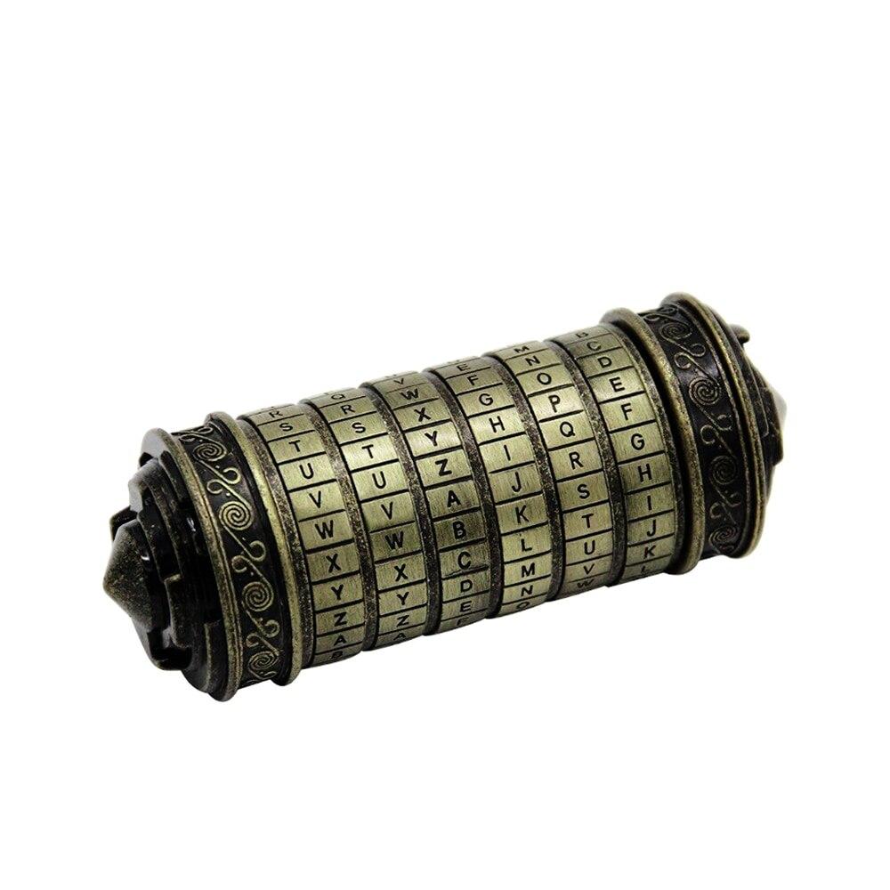 Serrure à Code DaVinci serrures Alphabet en métal pour bague de mariage saint valentin cadeau décor mot de passe cylindre combinaison boîte à lettres