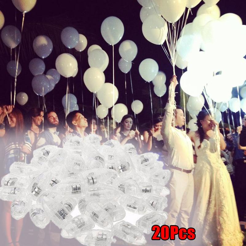 20pcs Led Light Up Balloon Lights For Lantern Diy Party Christmas Birthday Wedding Decoration