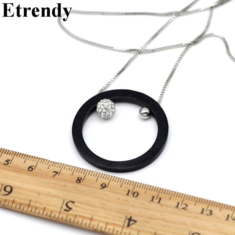 Metal Round Circles Long Necklaces Pendants For Women Gold Color Statement Fashion Jewelry Party Bijoux Ladies Gifts All Match in Pendant Necklaces from Jewelry Accessories