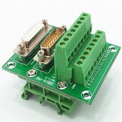 D-SUB DB15High QualityMale/Connettore Femmina Breakout Consiglio, Morsettiera, connettore.
