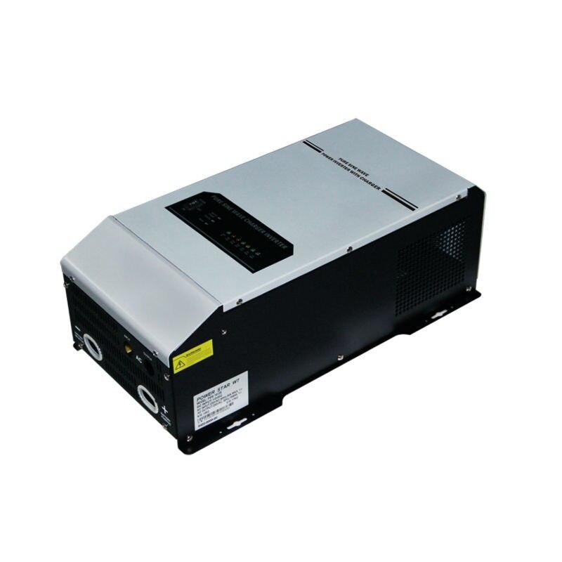 3kW 24V 220vac/230vac Power Inverter Pure Sine Wave 3000w Off Grid Solar Inverter With LED display built in battery charger 2000w dc12v 24v ac110v 220v off grid pure sine wave single phase power inverter with charger function surge power 3000w