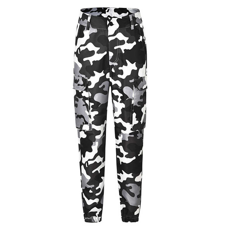 4c20fea2beb8d ... New Women Camouflage Long Pants Camo ladies Casual Cargo Joggers  Military Army Harem Trousers Clubwear dance ...