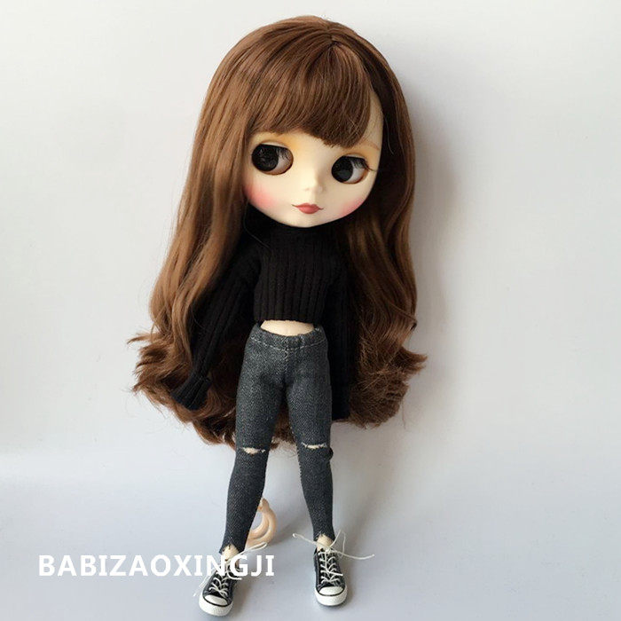 1/6 Fashion Doll Clothes Doll Accessories Fashion Sweater + Jeans For Blyth Doll Clothing 30cm Doll Accessories For Barbie