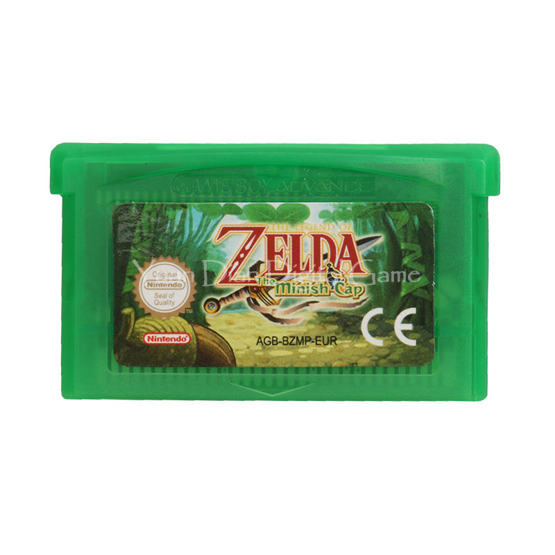 Nintendo GBA Video Game Cartridge Console Card The Legend of Zelda The Minish Cap ENG/FRA/DEU/ESP/ITA Language Version [50set lot] for nintendo gameboy series game cartridge housing shell replacing cover case for gb gbc gba sp