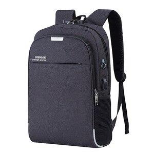 Litthing كمبيوتر محمول USB شحن 15.6 بوصة مكافحة سرقة النساء الرجال الحقائب المدرسية للمراهقات كلية حقيبة السفر الذكور