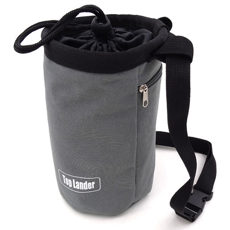 Top Lander Rock Climbing Chalk Bag Mountaineering Bouldering Weightlifting Gym Magnesium Powder Storage Pouch With Zip Pocket
