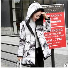 Free Shipping Womens Cotton Padded Parkas M/2Xl Two Side Wear Korean Hooded Winter Jackets Casual Outwear Clothes Coats J1651-42