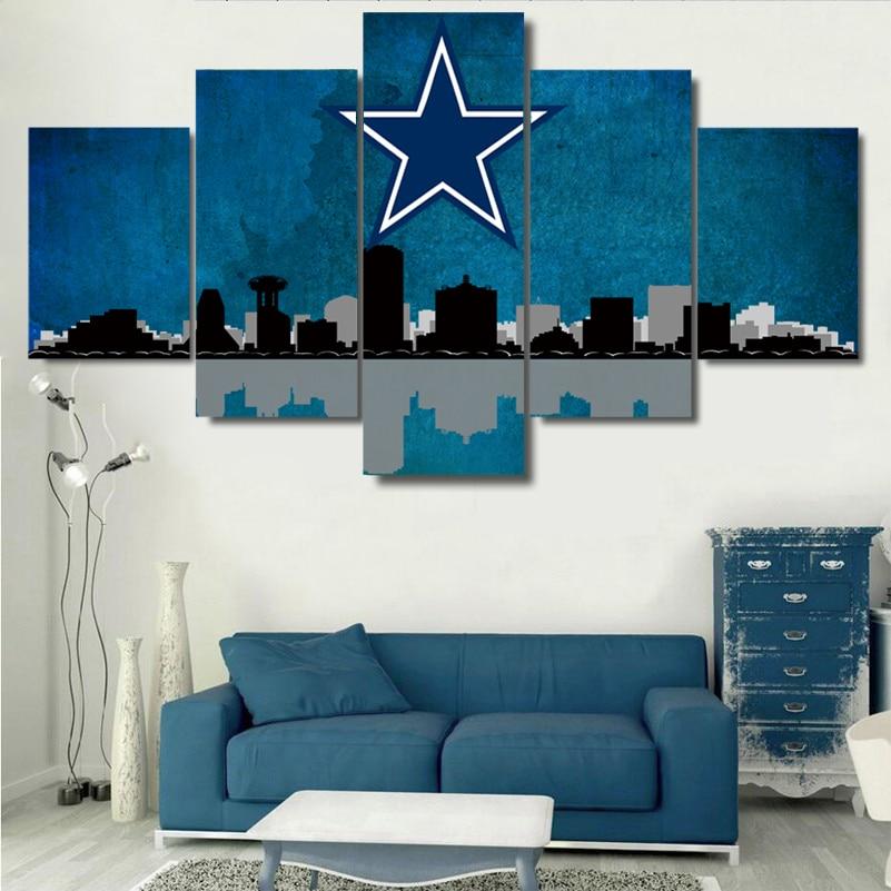 5 Panel Dallas Cowboys Canvas Prints Painting Wall Art Nfl: Popular Dallas Homes-Buy Cheap Dallas Homes Lots From