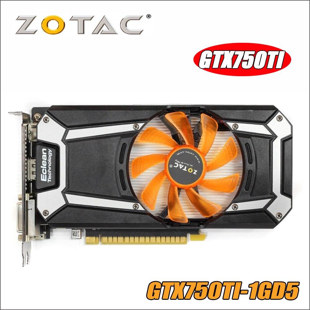 Originale ZOTAC Scheda Video GeForce GTX 750 Ti 1 gb 128Bit GDDR5 1GD5 Schede Grafiche per nVIDIA Mappa GTX750 Ti 1GD5 Hdmi Dvi 750ti