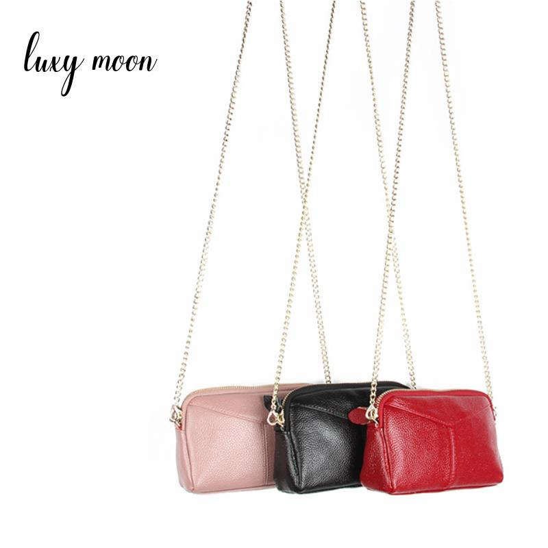 genuine leather bags for women Messenger Bag Quality Leather Womens Flap Bag Chain Strap Female Shoulder Crossbody Bags