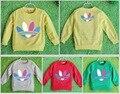 2015 a estrenar niños camisetas niños camisetas de algodón de manga larga niña camiseta de los niños pullover jogging sudaderas ropa casual