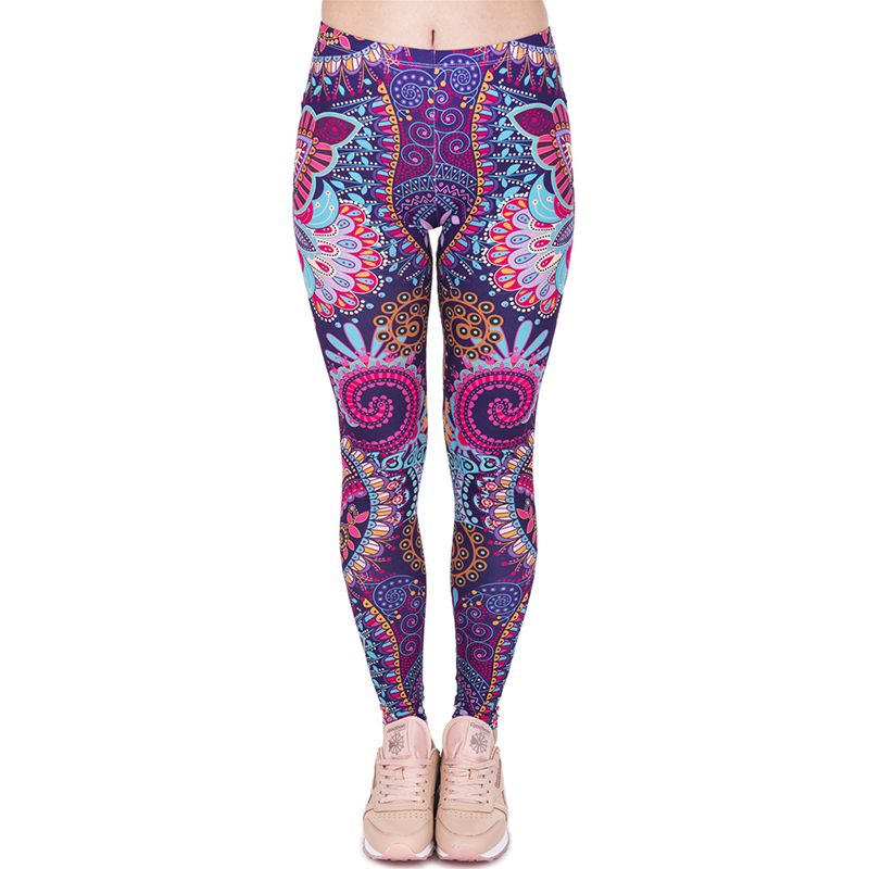 Women Casual Colorful Paisley Leggings Girls Funny Basic Skinny mandala  Leggings Jeggings Pants Basic Stretched Leggins - Compare Prices On Colored Jeggings- Online Shopping/Buy Low Price