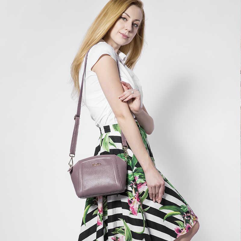 Realer Kulit Asli Wanita Tas Tangan Tas Bahu 2018 Tas Selempang untuk Wanita Wanita Fashion Desain SOLID Tas untuk Wanita