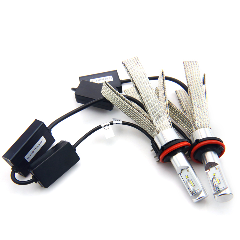 Auto Car H15 Led Headlight 8C H15 6000K White Beam 80W 8000Lm h15 Canbus free Error Epistar Chip Lamp Car Styling 12V