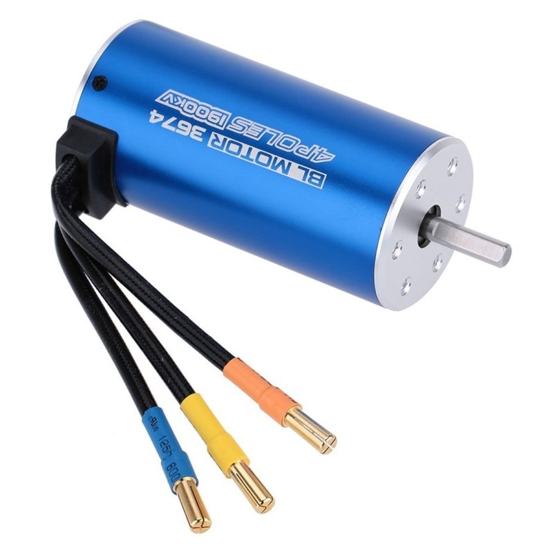 Blue 3674 4 Poles 1900KV Sensorless Brushless Motor