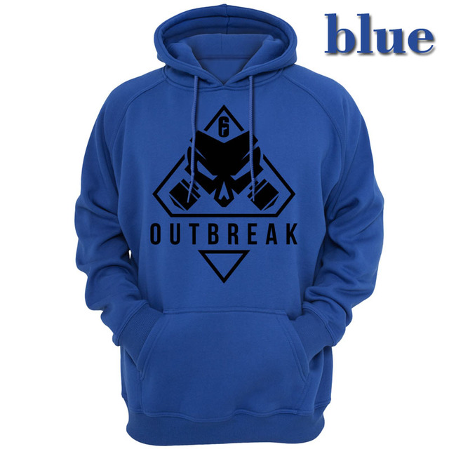 new Rainbow Six Siege Operation Chimera Logo Men Hoodies Sweatshirts Gaming R6 Siege Operation Outbreak Outerwear Hoody Casual 4