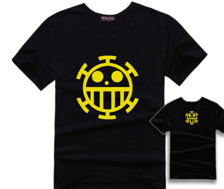 One Piece Pirates Of Heart Logo T-Shirt Cotton Anime Trafalgar Law T Shirts Onepiece Tshirt Tops Tee