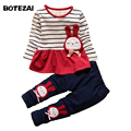 2016 Fashion Kids Clothes Spring Autumn Baby Girls Clothing Set Kids Cartoon rabbit Suits Children Striped T Shirts+Pants 2pcs