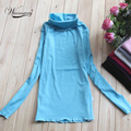 A la venta! señoras de moda de invierno primavera otoño de algodón Completa jerseys de Cuello Alto Suéter de Las Mujeres de Punto de manga larga XL TS-018