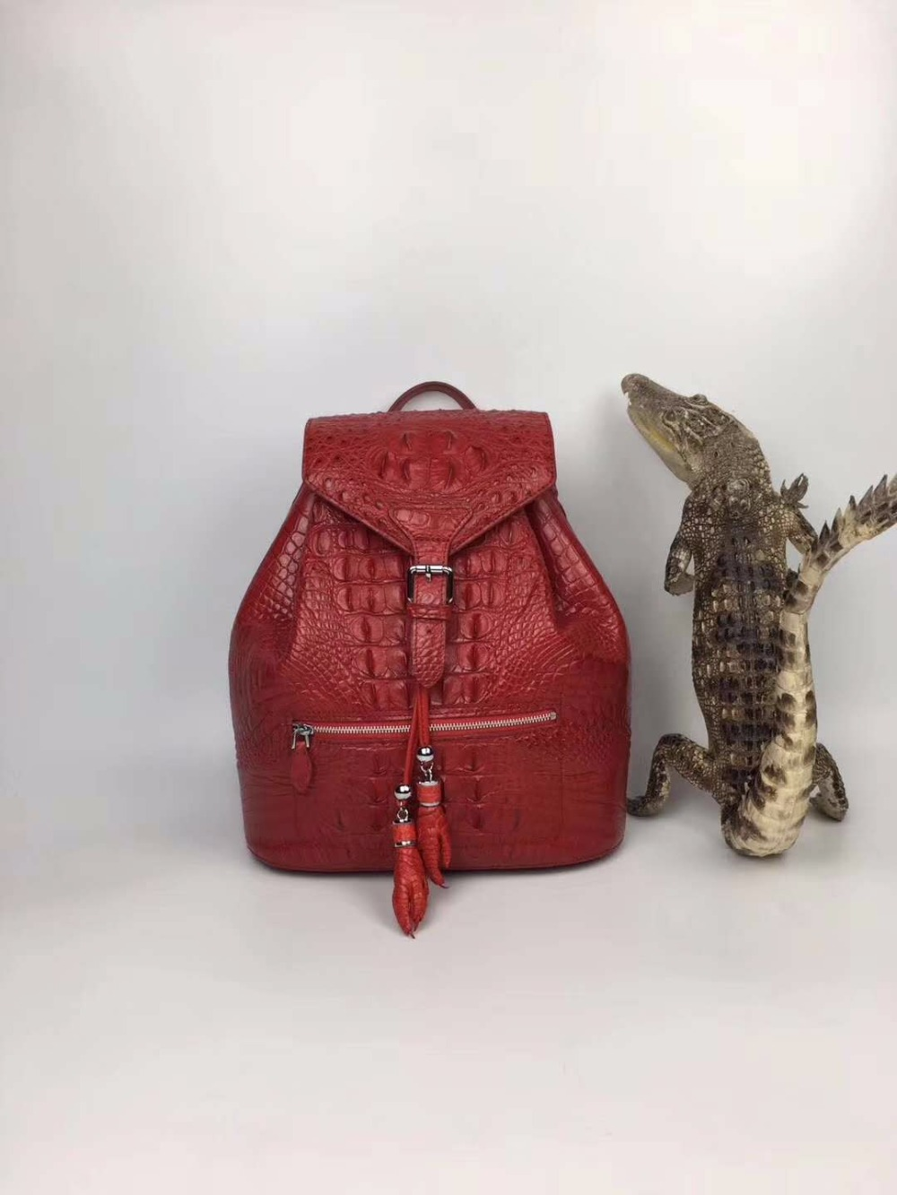 2018 fashion 100% genuine real crocodile skin women backpack bag, alligator skin small lady backpack daily bag 2018 fashion genuine real crocodile skin