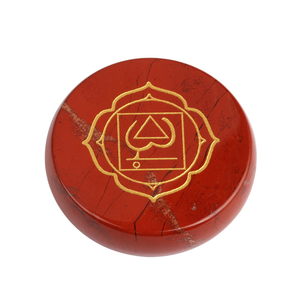 Free Shipping Natural Red Jasper Stone Root Chakra Stone Round Palm Stones Reiki Symbol Stones Healing Crystal 2017 New Arrival