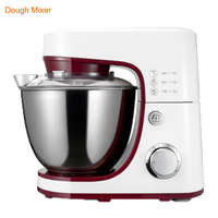 1200W 4.2L 6 speed Electric Food Blender Mixer With Whisk Flat Beater Dough Mixer