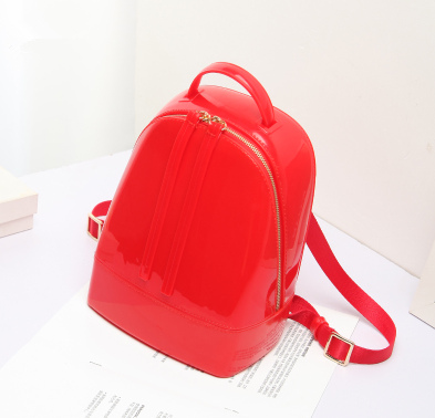 Summer Style Candy Color Jelly Backpack Women Favorites Backpack PVC Waterproof School Bags