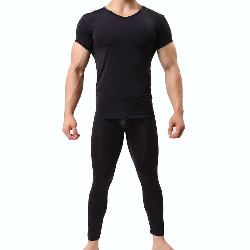 Top quality Men Long Johns New Thermal Men Underwear Sets Compression Sweat Quick Drying Ultra-thin Long Johns Men Clothing