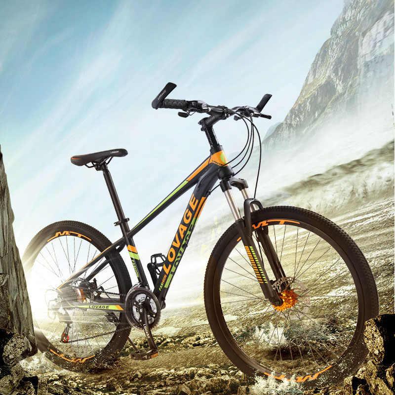 Wolf Fang Sepeda Gunung Sepeda 27.5 Lemak Sepeda 21 Kecepatan Sepeda Jalan Sepeda MTB Dual Cakram Rem gratis Pengiriman Orang
