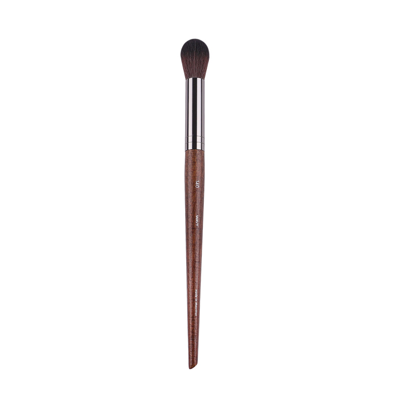 High Quality Highlighter Brush #140 Wood Handle Wavy Synthetic Hair Small Highlighting Blush Makeup Brush
