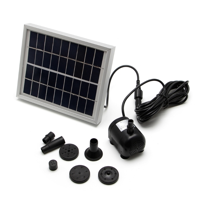 Small Solar Pump Type Landscape Pool Garden Sources 9 V 2 W Solar Power  Decorative Fountain