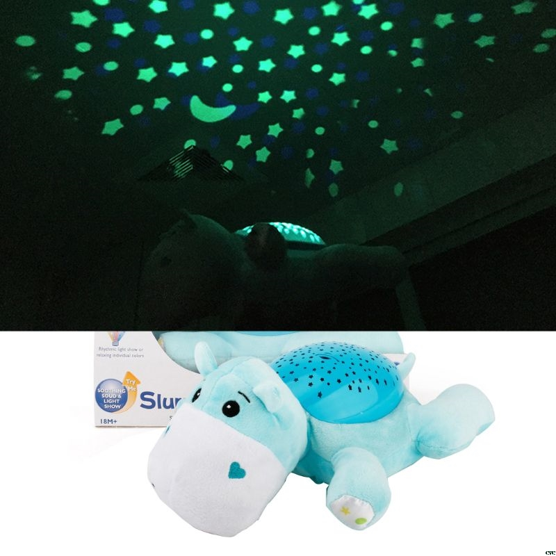 Us 15 52 17 Off Cartoon Plush Doll Ceiling Starry Night Lamp Projector Led Light Comfort Musics Baby Sleeping Aid Bedroom Decor Party Supply In