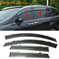 Car Stylingg Awnings Shelters 4pcs/lot Window Visors For Honda Odyssey 2005-2016 Sun Rain Shield Stickers Covers
