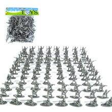 100st Mini Plastic Soldier Leksaker Soldater Set Action Figur Slumpmässig