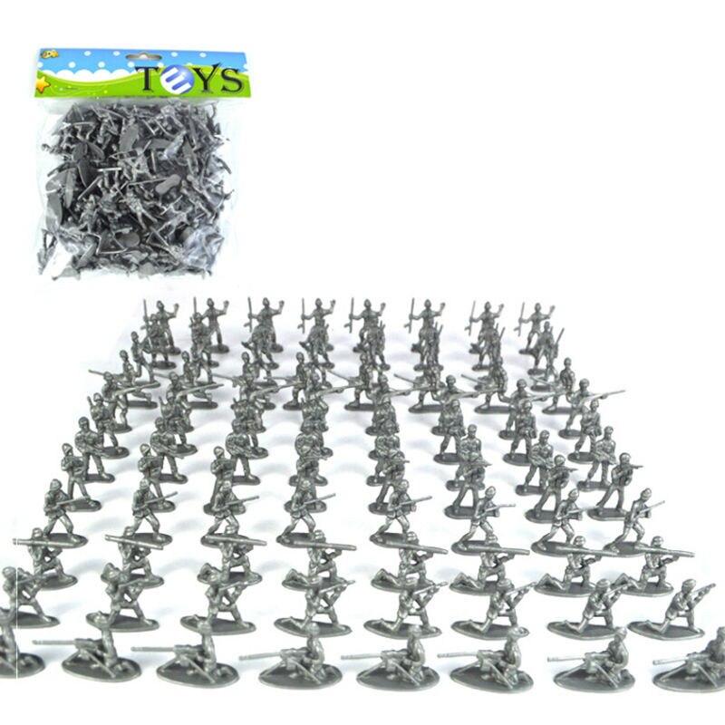 100pcs 3Color Mini Plastic Soldier Toys Soldiers Set Action Figure