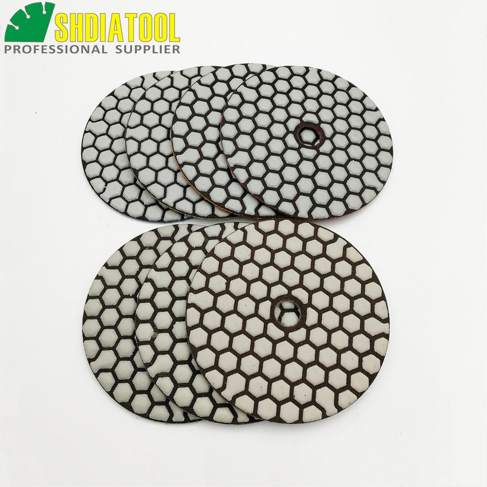 DIATOOL 10sets 4inch Dry Diamond Polishing Pads 7pcs set 70pcs DIA100MM Resin Bond Diamond Flexible Polishing