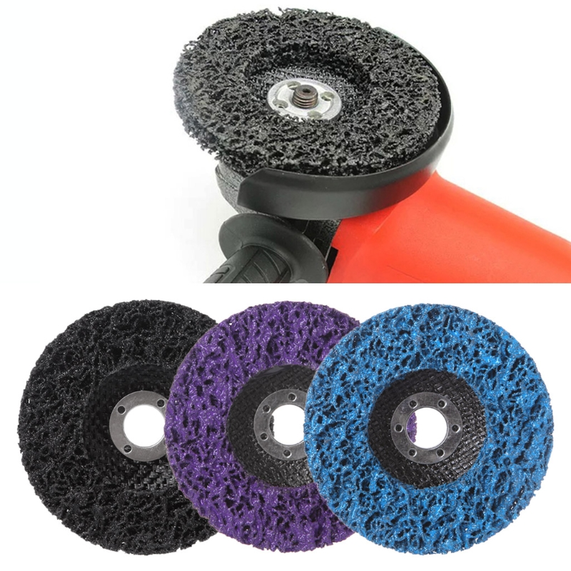 100x16mm 115x22mm Cleaning Strip Wheel Grinding Disc For Paint Rust Grinder Remover Tools