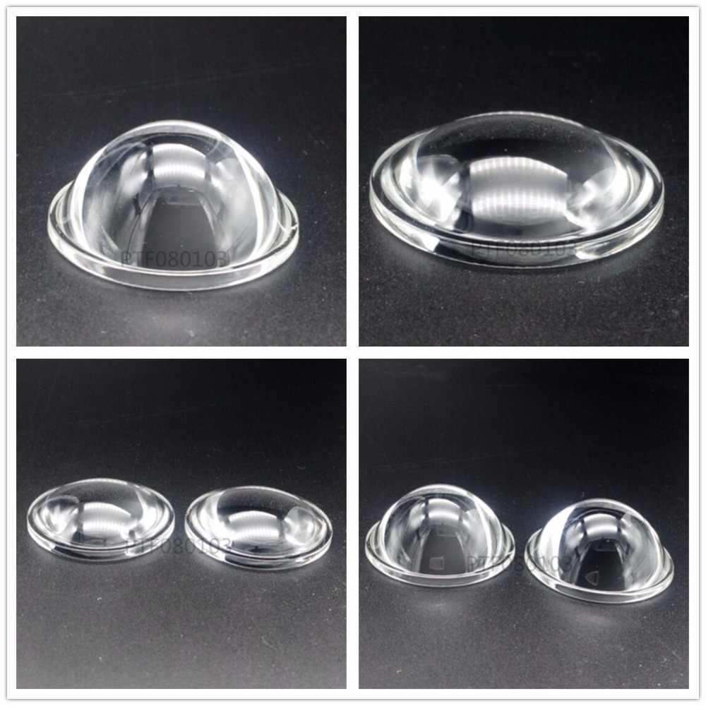 Lente de 44mm LED colimador gran angular de reflexión, 10 W, 20 W, 30W 50W 100W LED lente de vidrio óptico