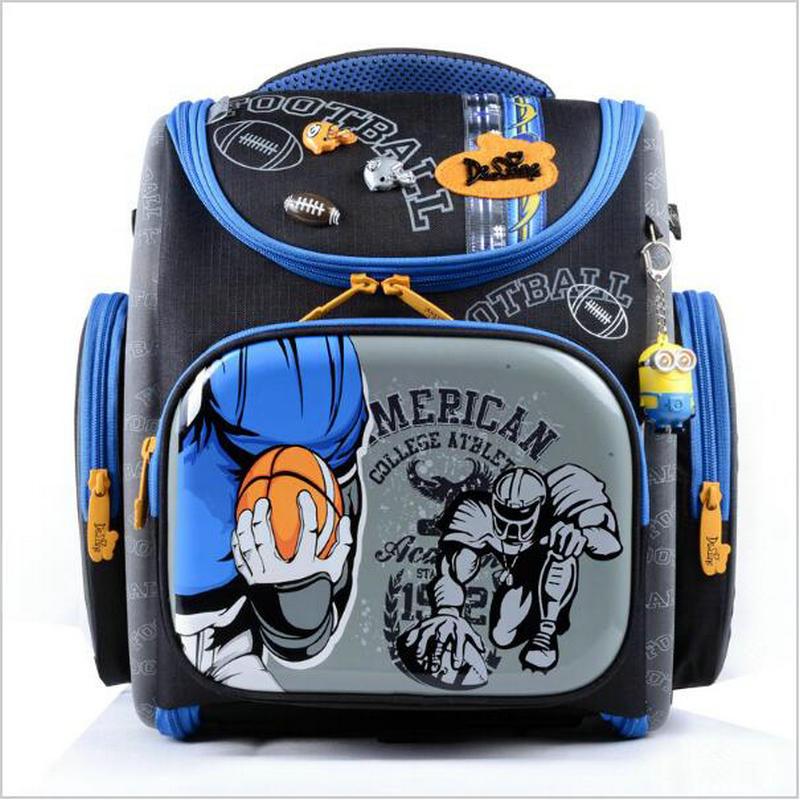 цена на High-grade Double Children School Bag 2016 Boys Racing Cars Orthopedic School Bags girls Infantil Waterproof Backpacks Mochila