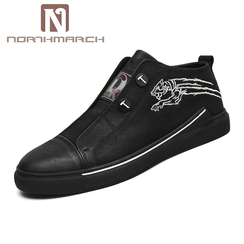 NORTHMARCH Men Sneakers Spring Summer Mens Shoes Genuine Leather Comfortable Casual Shoes Men Zapatillas Hombre Deportiva недорго, оригинальная цена