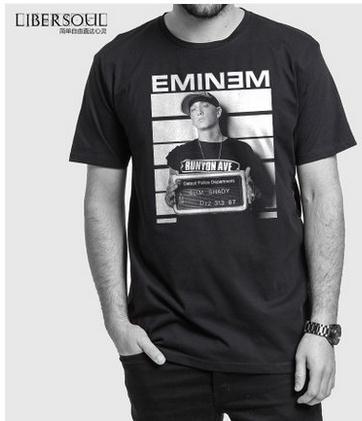 2015 New Fashion hip hop Dragon Eminem slim shaddy O-neck short sleeves t shirts