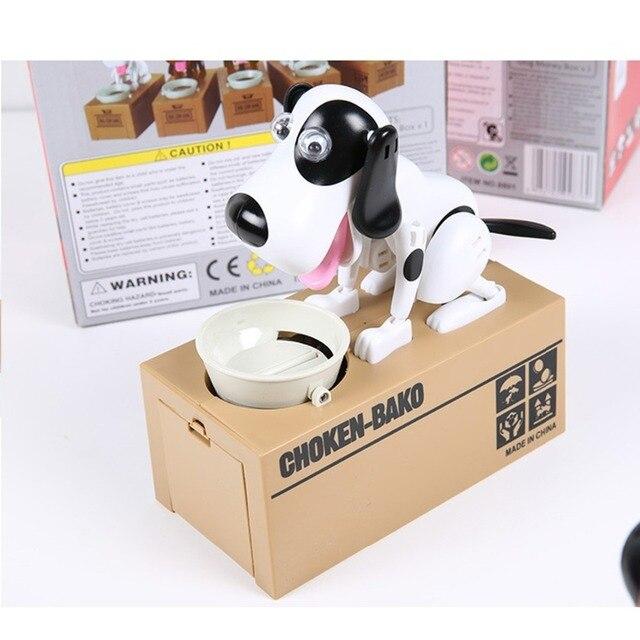 Новый Роботизированная Собака Электронные Домашние Животные Игрушки Копилка Money Bank Автоматический Украл Монет Копилка Деньги Сохранение Box Moneybo