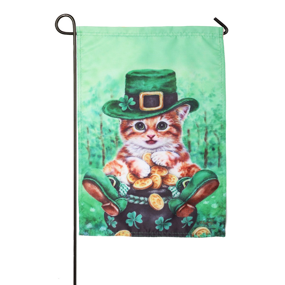 Great Garden Flag 30x45cm Cat House Wear Hat Home Living Room Decorative  Craftwork Gadgets Boutique Shop Decor