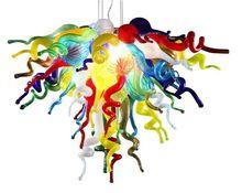 Fancy Colored Modern Art Decoration Style Hand Blown Glass Chandelier Lights